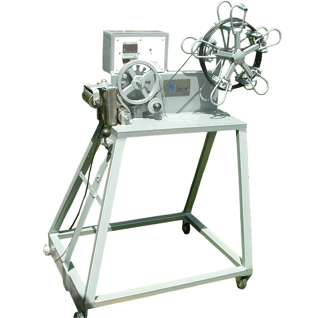 Manual cable winder on stand Image